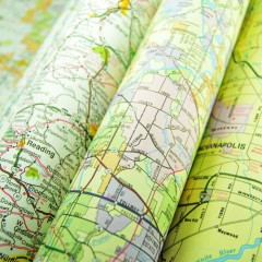 rolled up maps