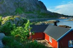 Summer lodge, Moskenesoya Island, Lofoten, Norway