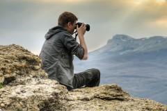 shooting a nature photograph