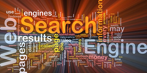 Internet search engine word cloud